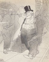 Image of [Old wealthy man walking down the street] - Irvin, Rea, 1881-1972